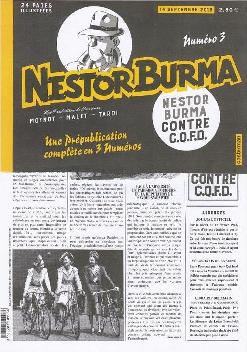 Couverture de Nestor Burma (Feuilleton) -6- Nestor Burma contre C.Q.F.D. - Numéro 3