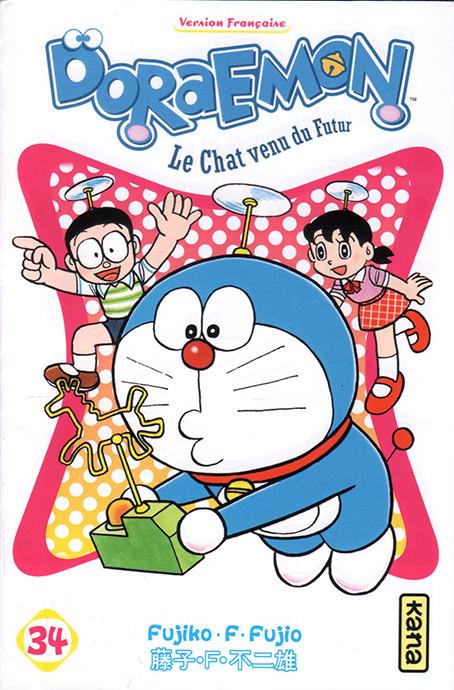 Couverture de Doraemon, le Chat venu du futur -34- Tome 34