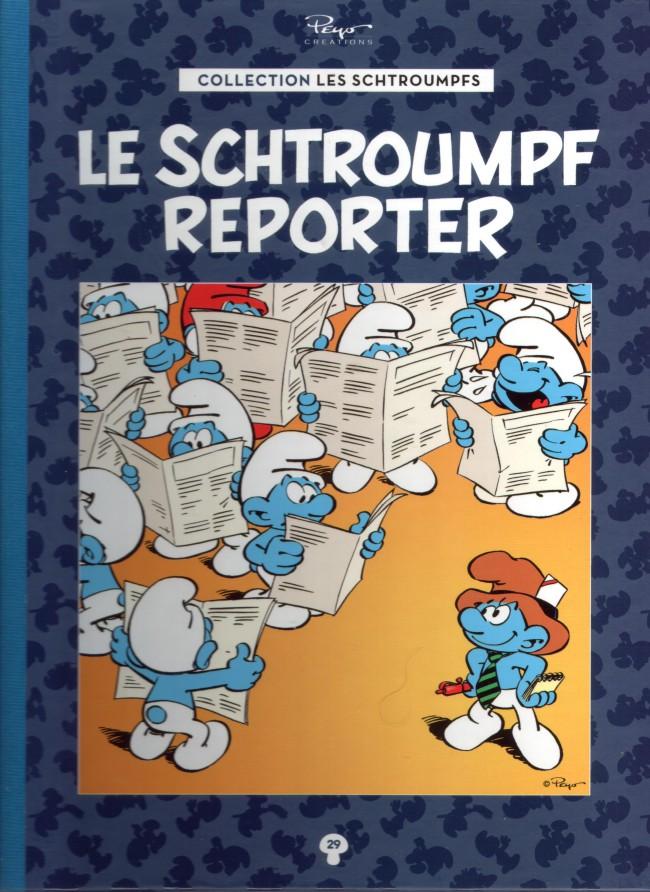 Couverture de Les schtroumpfs - La collection (Hachette) -29- Le schtroumpf reporter