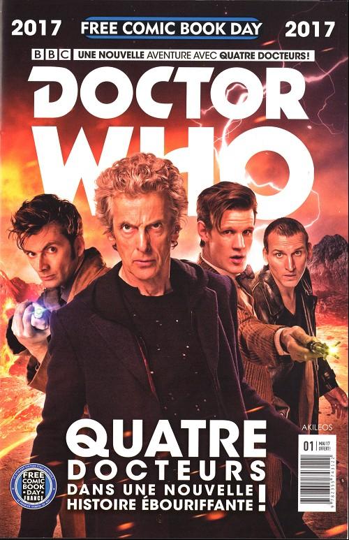 Couverture de Free Comic Book Day 2017 (France) - Doctor who: quatre docteur