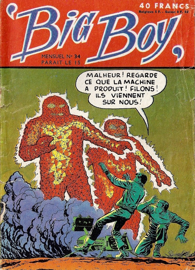 Couverture de Big Boy -34- La menace-pesanteur