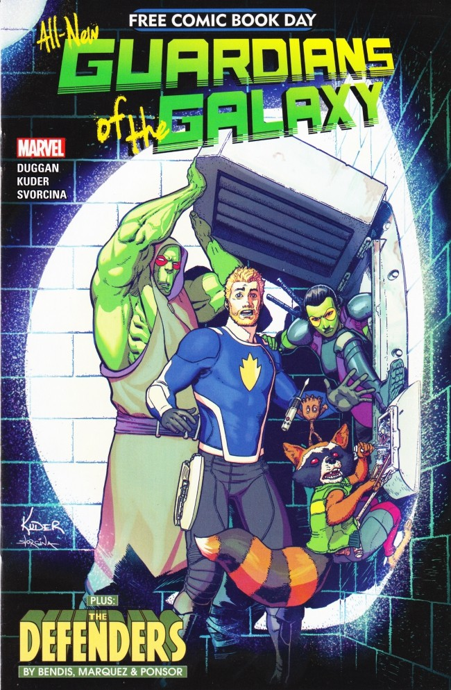 Couverture de Free Comic Book Day 2017 - All-New Guardians of the Galaxy / The Defenders