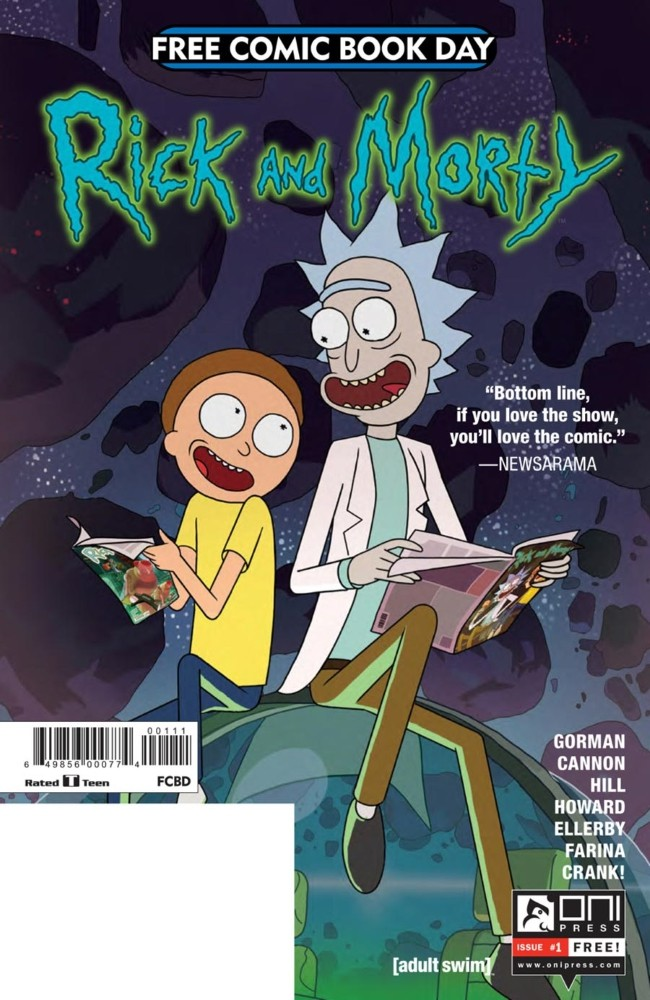 Couverture de Rick and Morty (2015) -FCBD- Rick and Morty Free Comic Book Day 2017