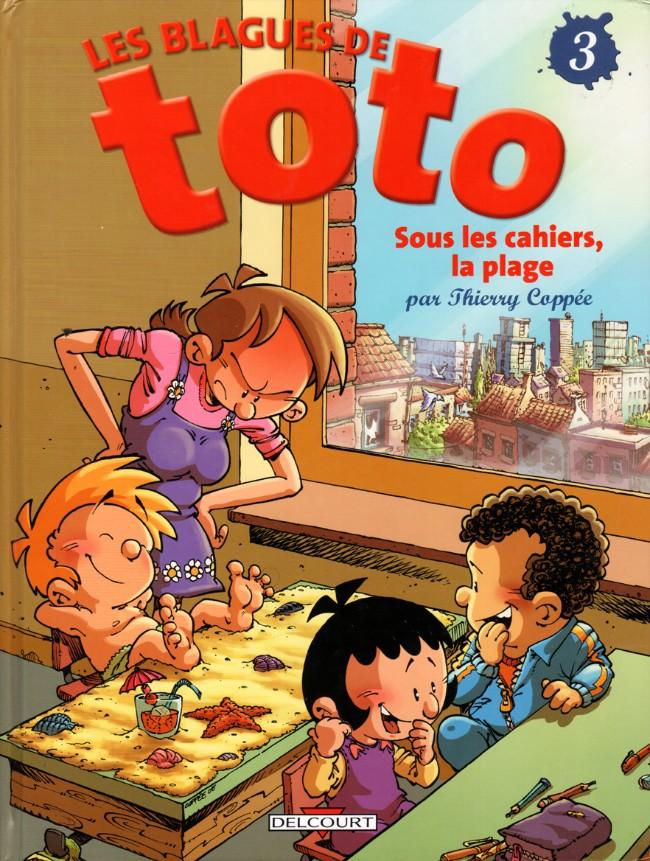 Couverture de Les blagues de Toto -3- Sous les cahiers, la plage...