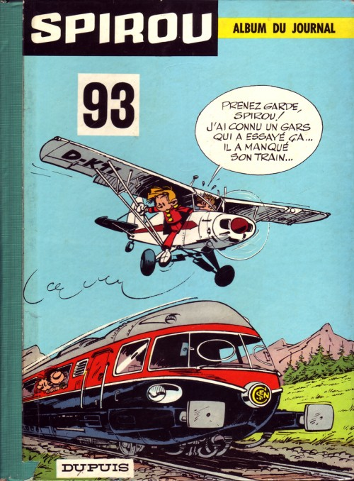 Couverture de (Recueil) Spirou (Album du journal) -93- Spirou album du journal