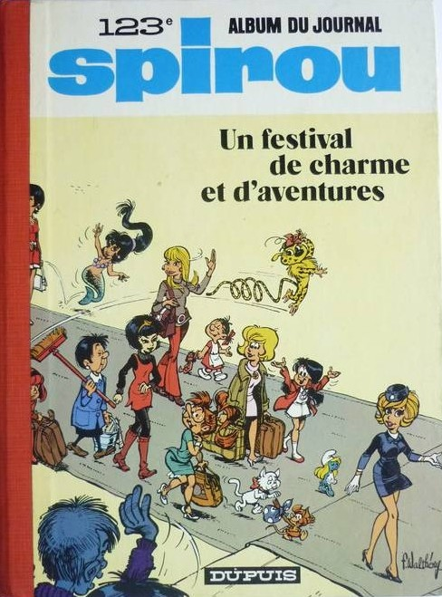 Couverture de (Recueil) Spirou (Album du journal) -123- Spirou album du journal