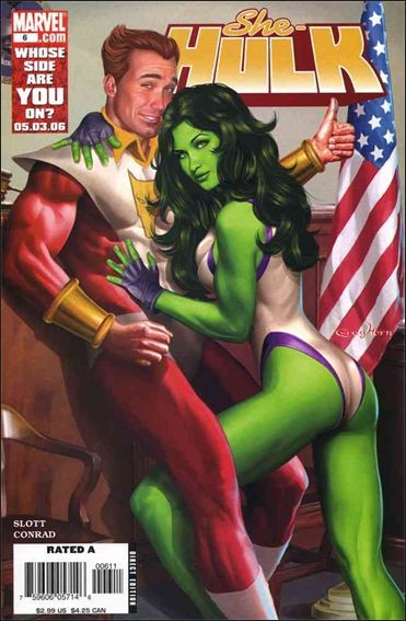 Couverture de She-Hulk (2005) -6- Beus and eros part 1 : i'm with cupid