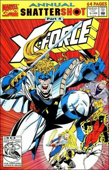 Couverture de X-Force (1991) -AN01- Shattershot part 4/ the crush/