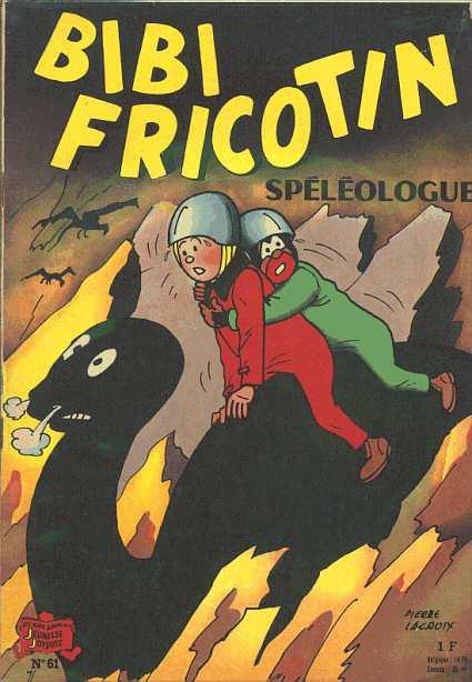 Couverture de Bibi Fricotin (2e Série - SPE) (Après-Guerre) -61- Bibi Fricotin spéléologue