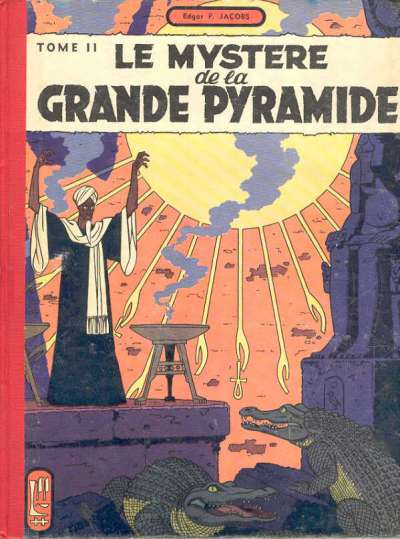 Couverture de Blake et Mortimer (Historique) -4- Le Mystère de la Grande Pyramide - Tome II