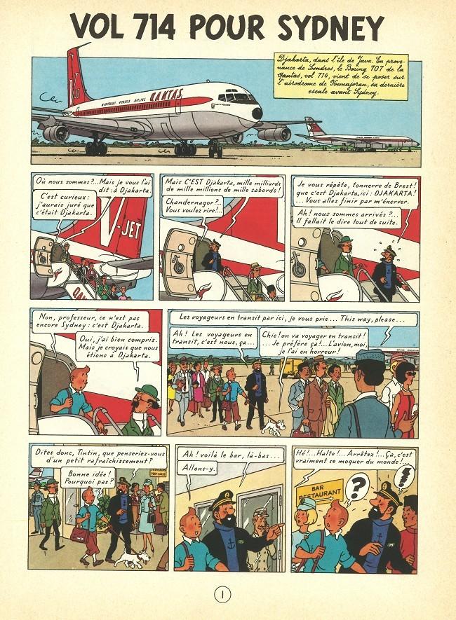 Tintin (Historique) -22B37- Vol 714 pour Sydney