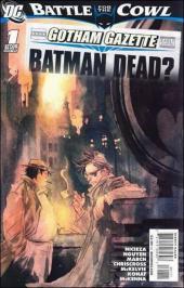 Batman: Battle for the Cowl (2009) -OS- Gotham gazette : Batman dead ?