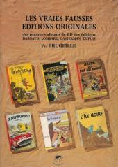 (DOC) Études et essais divers - Les vraies fausses éditions originales des premiers albums de BD des éditions Dargaud, Lombard, Casterman, Dupuis