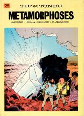 Tif et Tondu -28b1986- Métamorphoses