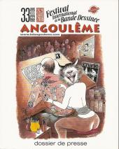 (Catalogues) Éditeurs, agences, festivals, fabricants de para-BD... -DP- Festival - 33ème édition - Festival International de la Bande Dessinée - Angoulême