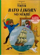 Tintin (en langues régionales) -11Mauricien- Bato Likorn so sékré
