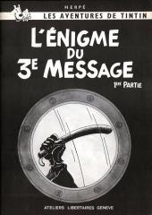 Tintin - Pastiches, parodies & pirates -14- L'Énigme du 3e Message - 1ère partie