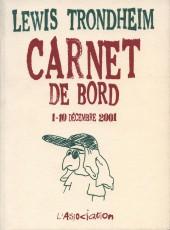 Carnet de bord -1- 1-10 décembre 2001