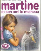 Martine -30a- Martine et son ami le moineau