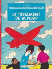 Jo, Zette et Jocko (Les Aventures de) -1B43ter- Le testament de m. Pump