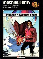 Mathieu Lamy -2- Et l'ange n'avait pas d'ailes