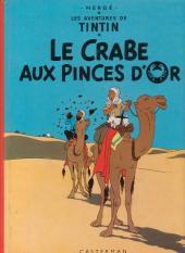 Tintin (Historique) -9C6- Le crabe aux pinces d'or