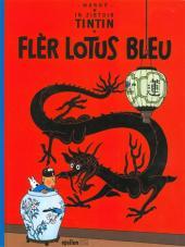 Tintin (en langues régionales) -5Réunionnai- Flèr Lotus Bleu