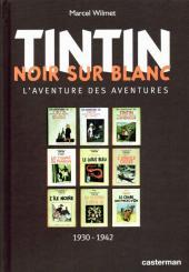 Tintin - Divers -a- Tintin Noir sur Blanc