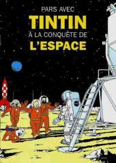 Tintin - Publicités -La Vac- Pars avec Tintin à la conquête de l'espace
