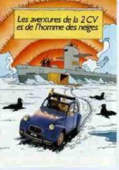 Tintin - Publicités -Citroën- Les aventures de la 2 CV et de l'homme des neiges