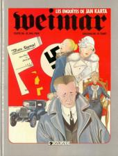 Weimar - Les enquêtes de Jan Karta -1- Weimar