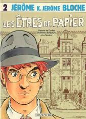 Jérôme K. Jérôme Bloche -2a1986- Les êtres de papier