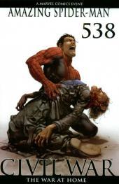 Amazing Spider-Man (The) Vol.2 (Marvel comics - 1999) -538VC- Civil War, The War at Home, Part 7 of 7 - Clayton Crain 1:50 Incentive