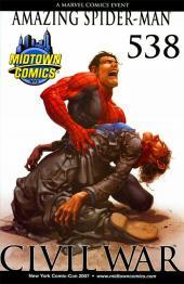 Amazing Spider-Man (The) Vol.2 (Marvel comics - 1999) -538VC- Civil War, The War at Home, Part 7 of 7 - Clayton Crain NYCC Midtown Comics Variant