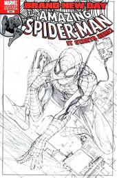 Amazing Spider-Man (The) Vol.2 (Marvel comics - 1999) -546''- Steve McNiven 1:100 Sketch Incentive