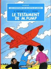 Jo, Zette et Jocko (Les Aventures de) -1d85- Le testament de M. Pump