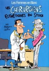 Les femmes en blanc présentent... -MR3701- Les Chirurgiens esthétiques en stock