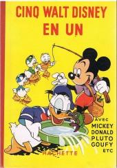 Les belles histoires Walt Disney (1re Série) -REC- Cinq Walt Disney en un, avec Mickey, Donald, Pluto, Goufy, etc.