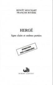 (AUT) Hergé -82- Hergé, ligne claire et ombres portées