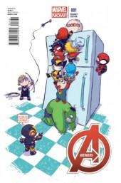 Avengers Vol.5 (Marvel comics - 2013) -1VC1- Avengers world Skottie Young Baby variant