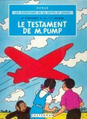 Jo, Zette et Jocko (Les Aventures de) -1B42bis- Le testament de m. pump
