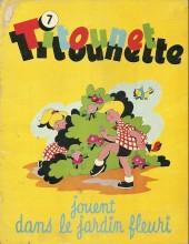 Titounet et Titounette -7- Titounet et Titounette jouent dans le jardin fleuri