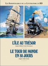 Les indispensables de la Littérature en BD -FL01- L'île au trésor / Le tour du monde en 80 jours