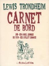 Carnet de bord -3- 10-19 avril 2002 - 11 juin-12 juillet 2002