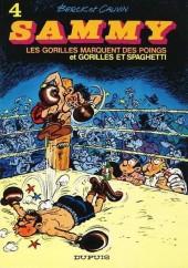 Sammy -4a1986- Les gorilles marquent des poings et Gorilles et spaghetti