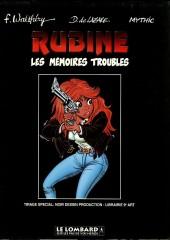 Rubine -1TT- Les mémoires troubles