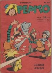 Pepito (1re Série - SAGE) -74- L'archer masqué