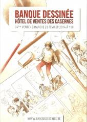 (Catalogues) Ventes aux enchères - Divers - Banque Dessinée - 34ème vente - dimanche 23 février 2014 - Bruxelles hôtel de ventes des Casernes