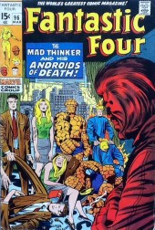Fantastic Four (1961) -96- The mad thinker and his androids of death!