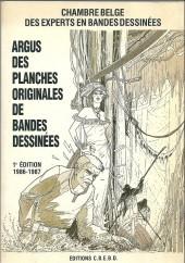 (DOC) Études et essais divers - Argus des planches originales de bandes dessinées - 1e édition 1986-1987
